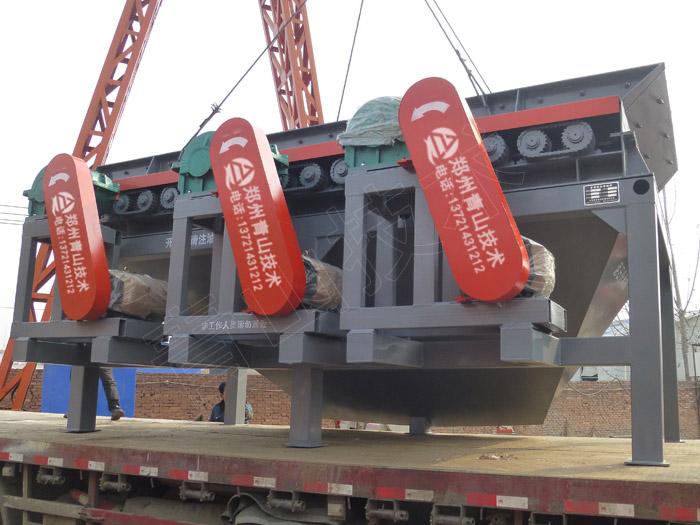时产600-800吨重型1818泥石分离机发货